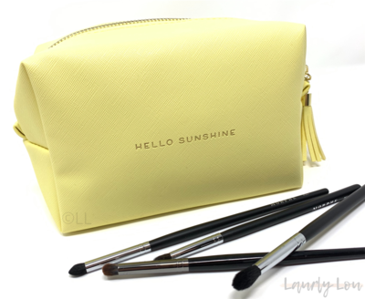 Cosmetics Bag - Yellow 'Hello Sunshine'