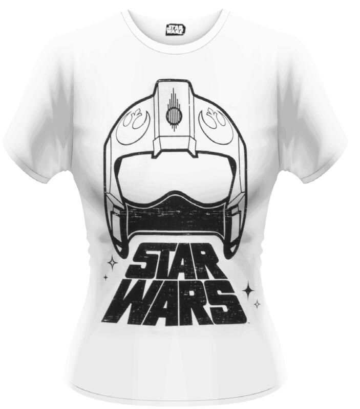 Female Star Wars X-Wing Helmet Fitted T-Shirt