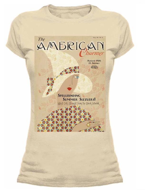 Female Fantastic Beasts 'American Charmer' Fitted T-Shirt