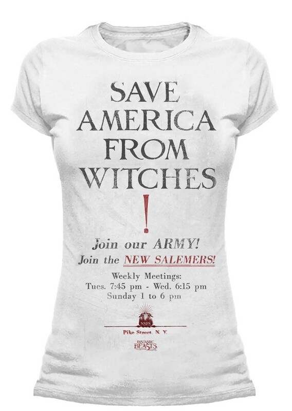 Female Fantastic Beasts 'Save America from Witches' Fitted T-Shirt