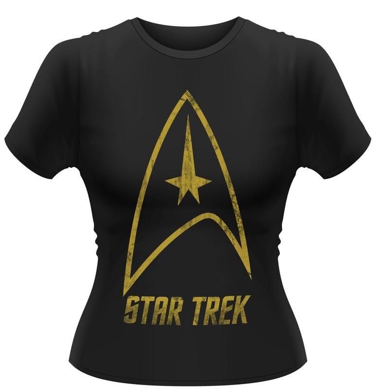 Female Star Trek Badge Fitted T-Shirt