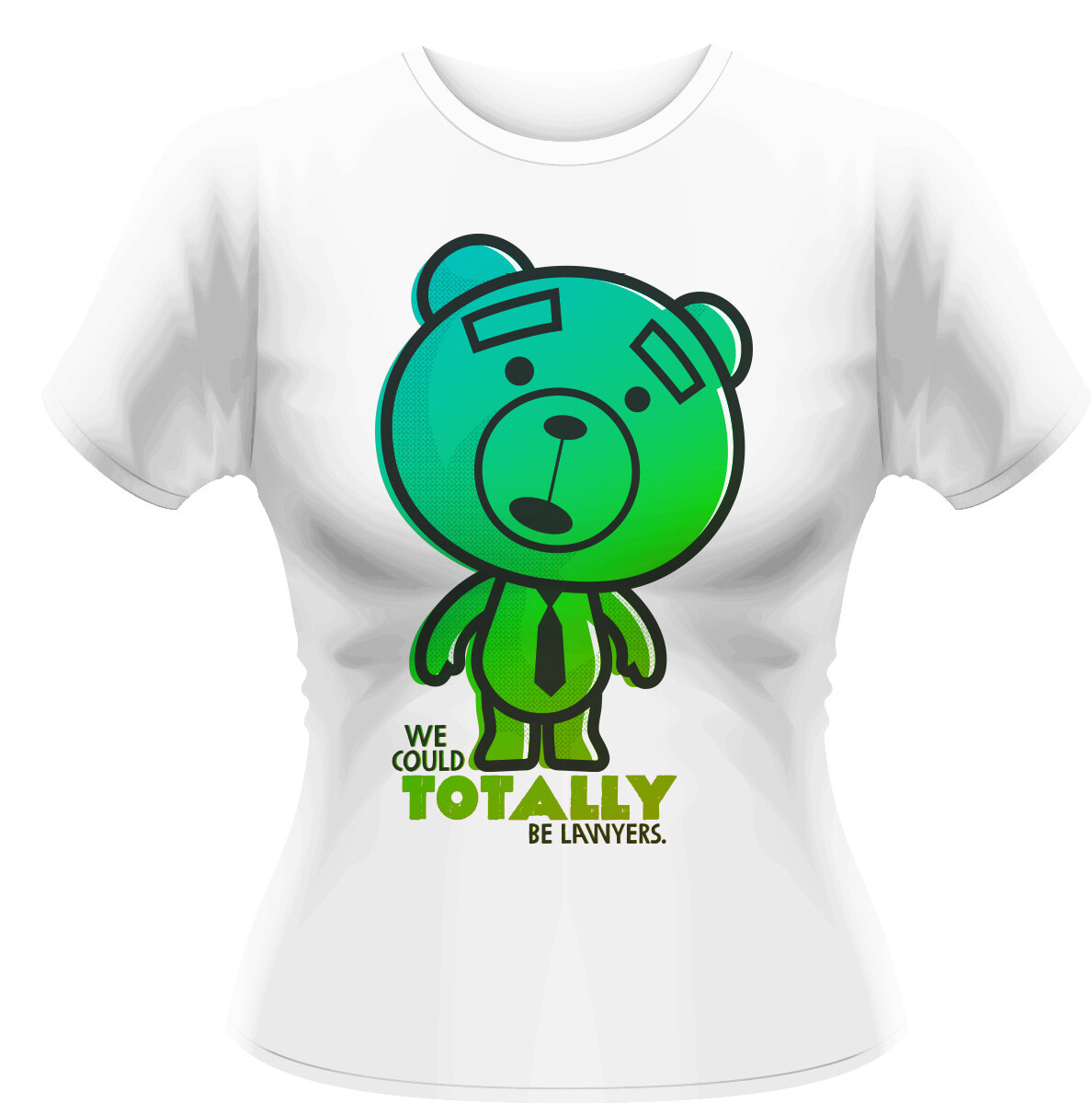Female Ted 2 Print Fitted T-Shirt