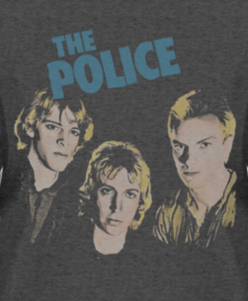 The Police 1980 Retro Ladies' fitted T-Shirt