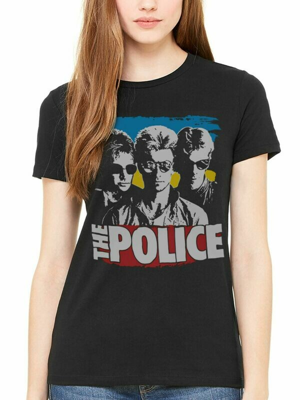 The Police 1982 Retro Ladies' fitted T-Shirt