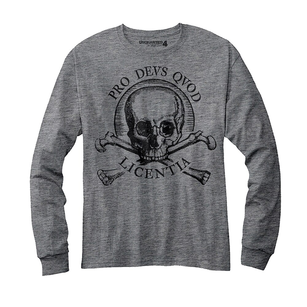 Long Sleeve Uncharted 4 'Pro Devs Qvod Licentia' T-Shirt