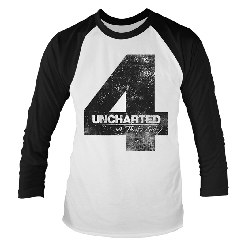 Long Sleeve Uncharted 4 Distressed Logo T-Shirt