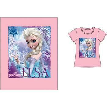 Frozen Elsa Image on Pink T Shirt