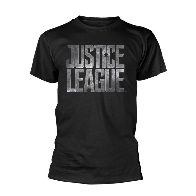 Unisex DC Justice League Silver Logo T-Shirt
