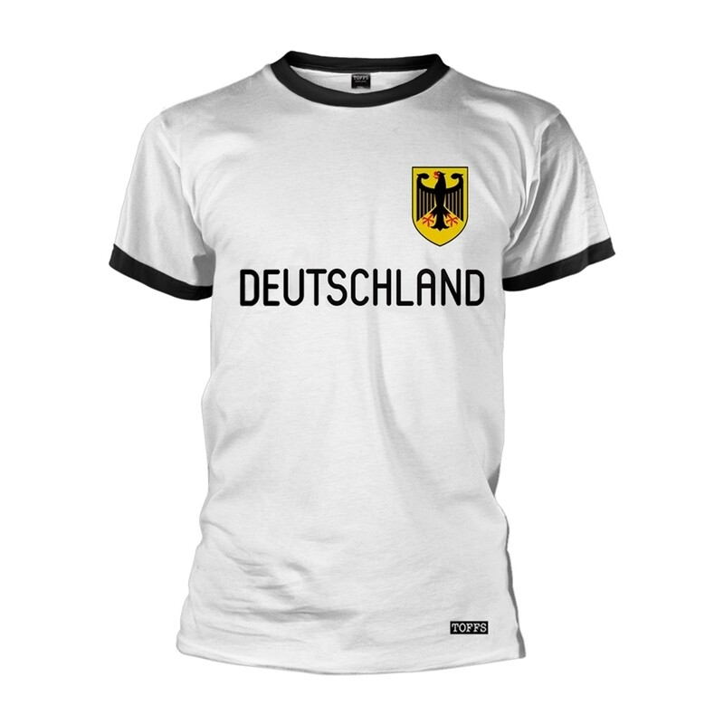 Deutschland Retro Football Ringer T-Shirt