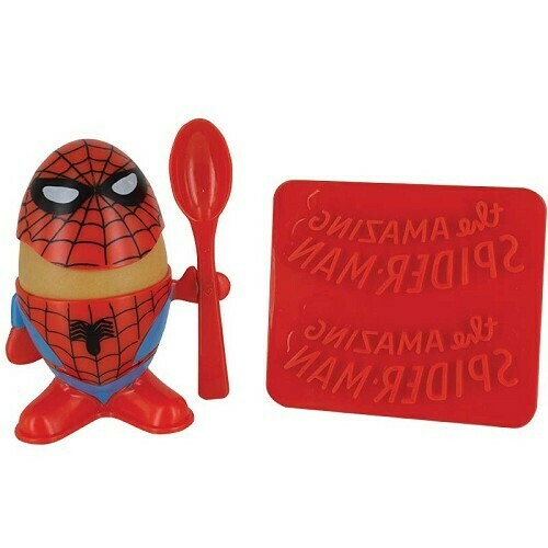 Spiderman Egg Cup and Toast Stamp