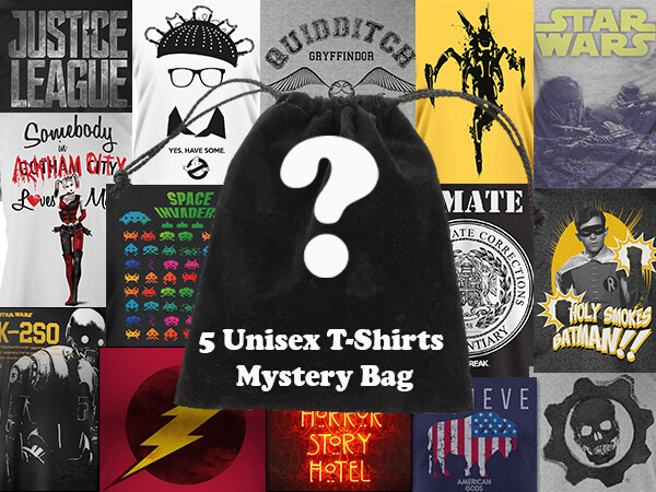 Unisex 5 Mystery T Shirt Bundle