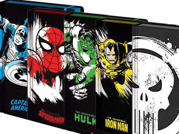 Marvel Hardback Embossed Notebook - 5 Pack