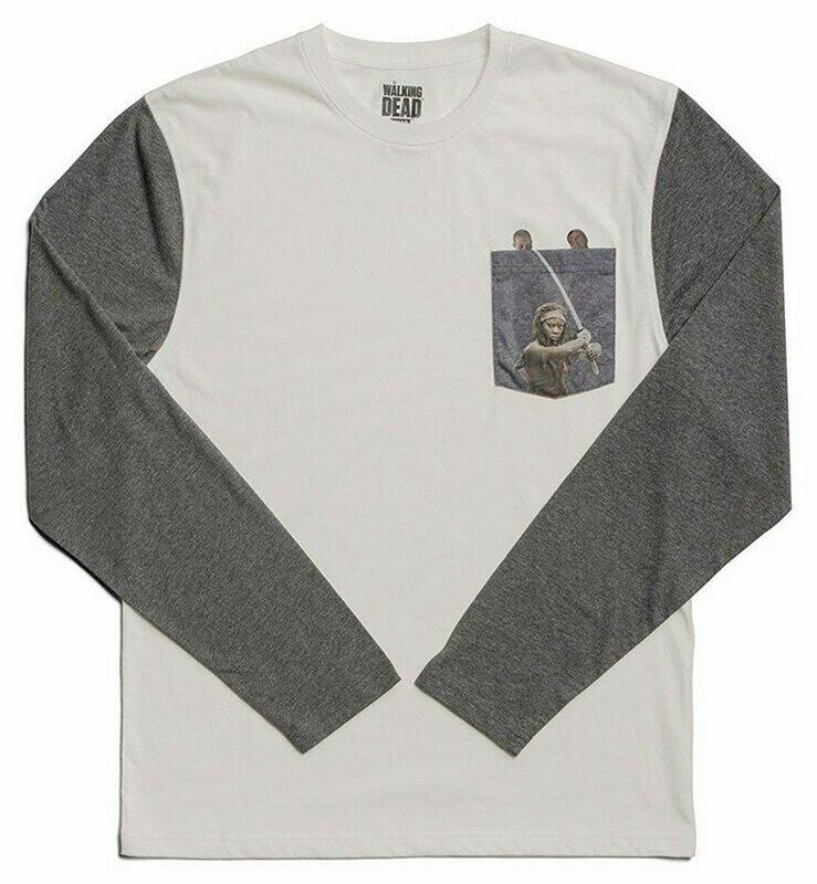 The Walking Dead Long-Sleeve Character Pocket T-Shirt