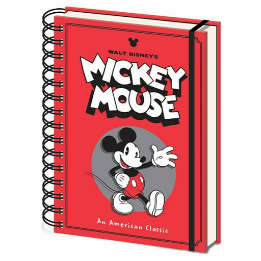 Mickey Mouse Hardback Wiro Notebook