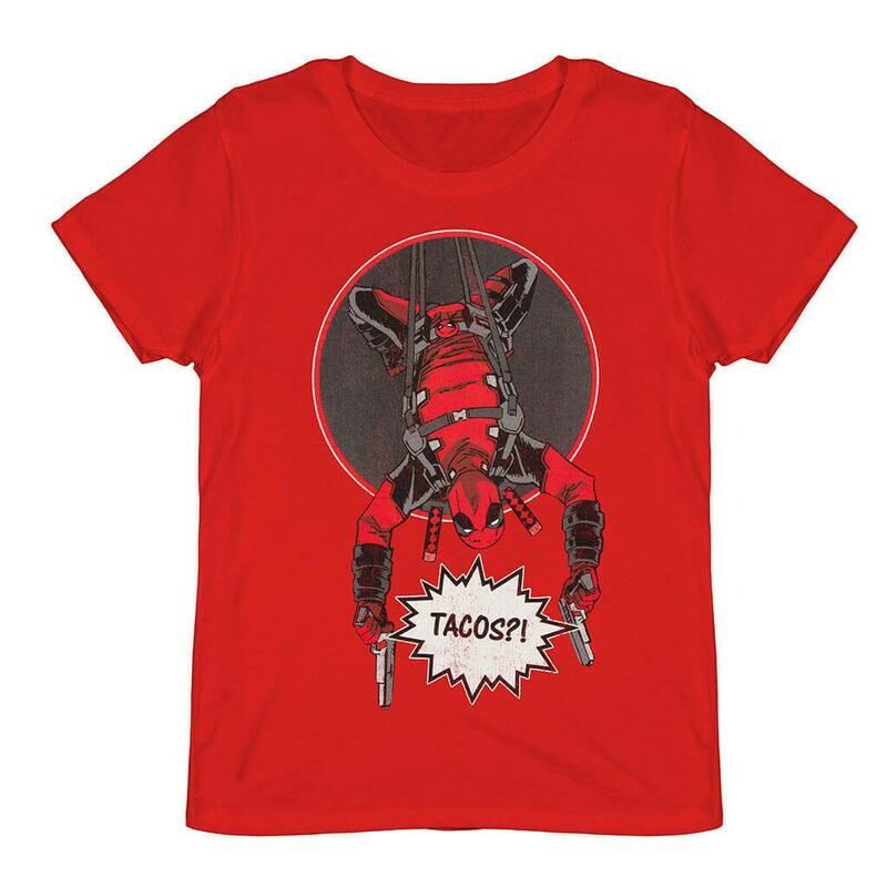 Unisex Marvel Deadpool 'Tacos' T-Shirt