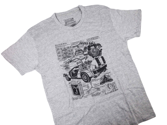 Ladies' Back To The Future Delorian T-Shirt