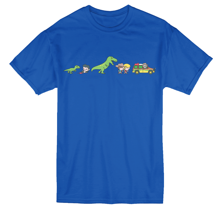 Jurassic Park 'Evolution' Print T-Shirt