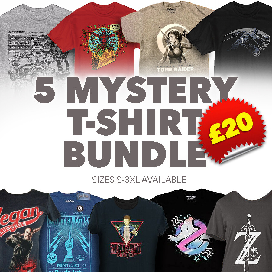 Unisex 5 Mystery T Shirt Bundle