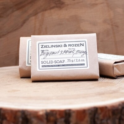 Solid soap Bergamot & Neroli, Orange (75 g)