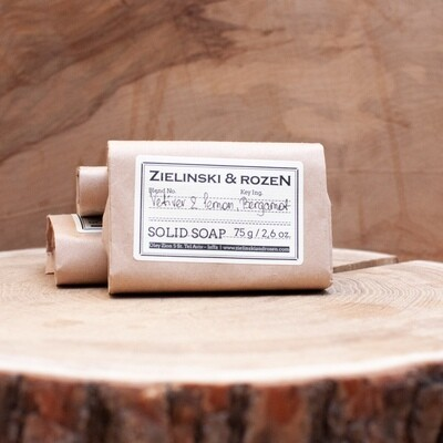Solid soap Vetiver & Lemon, Bergamot (75 g)