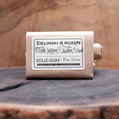 Solid soap Black Pepper & Amber, Neroli (75 g)