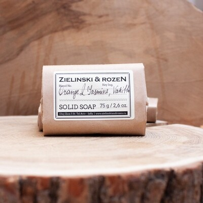 Solid soap Orange & Jasmine, Vanilla (75 g)
