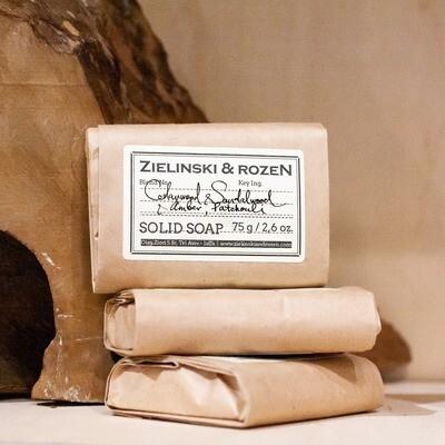 Solid soap Cedarwood & Sandalwood & Amber, Patchouli (75 g)