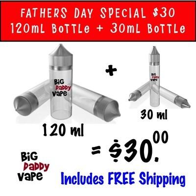 120ml bottle + 30ml Bottle