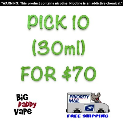 Pick any (10) 30ml for $70