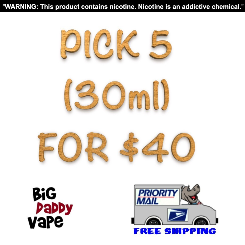 Pick any (5) 30ml for $40