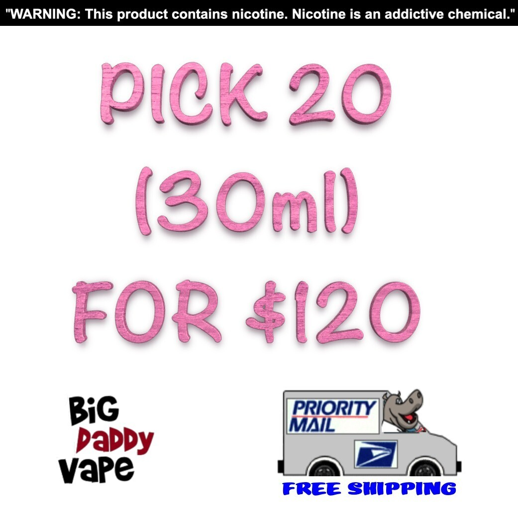 Pick any (20) 30ml for $120