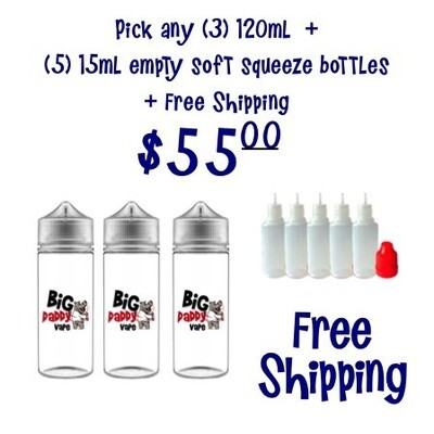 Pick any (3) 120ml for $55