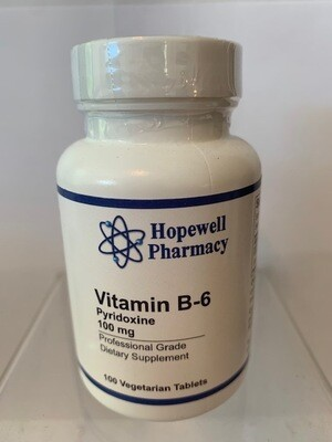 Vitamin B-6 100mg #100 vegetarian tabs