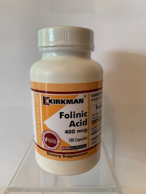 Folinic Acid 400mcg #180 caps