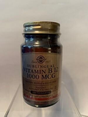 Sublingual Vitamin B12 1000mcg #100 nuggets