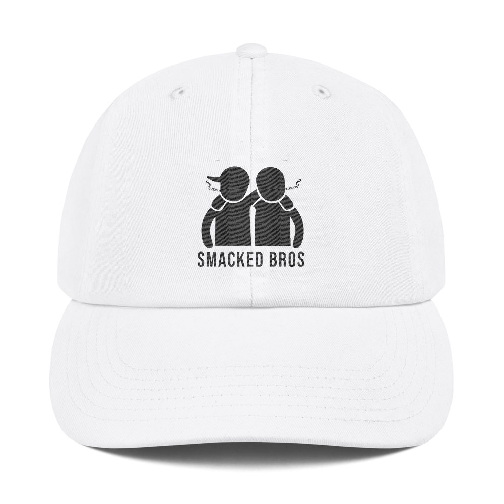 Smacked Bros Champion Dad Cap in White