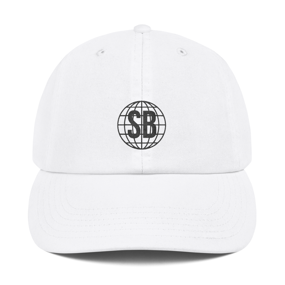 Smacked Champion Dad Cap in White
