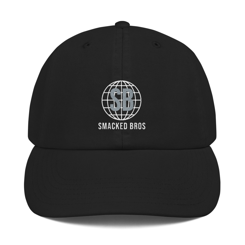 Smacked Champion Dad Cap in Black