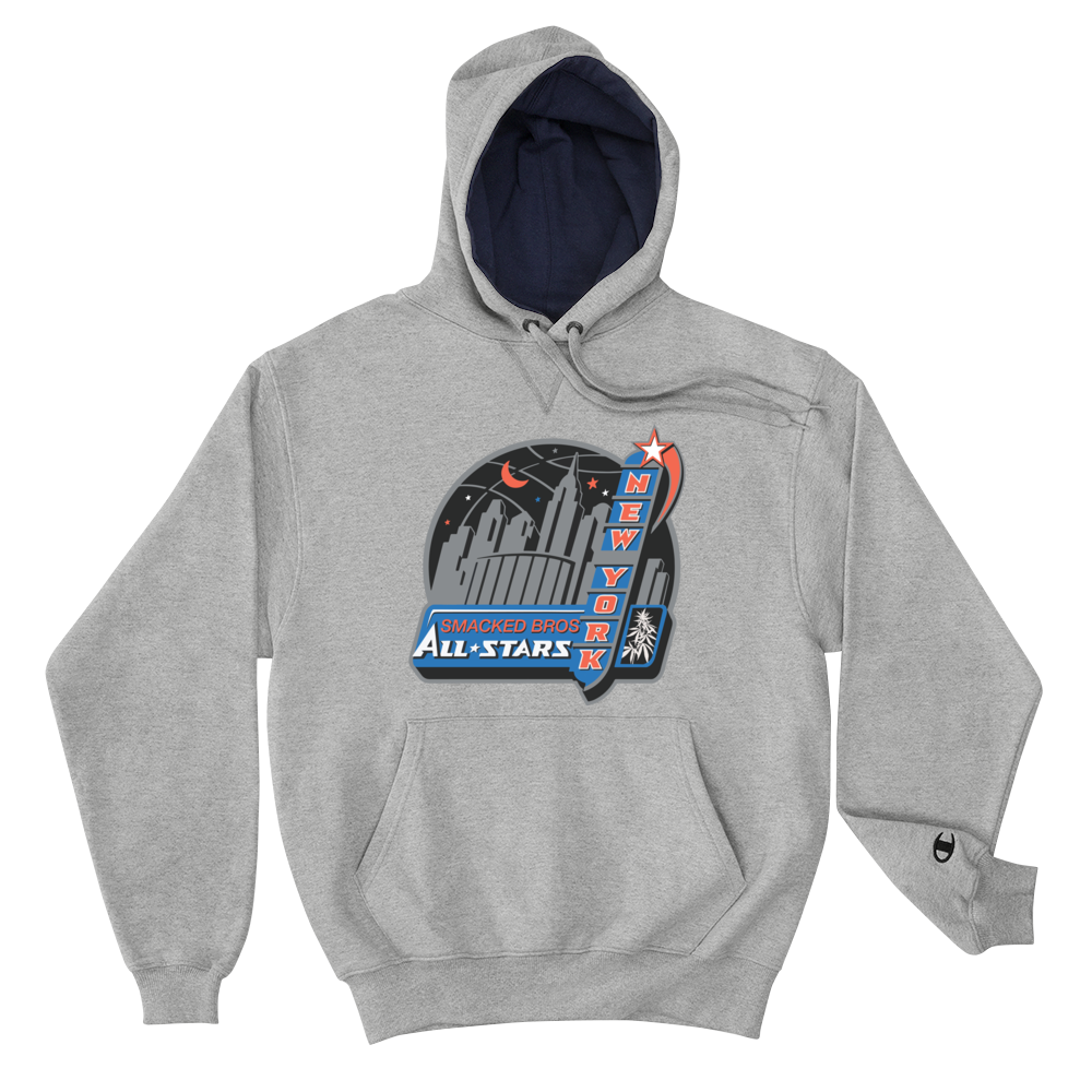 Smacked All Stars Gray Champion Hoodie