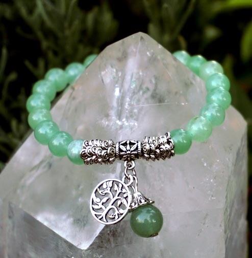 Tree of Life Bracelet in Green Aventurine