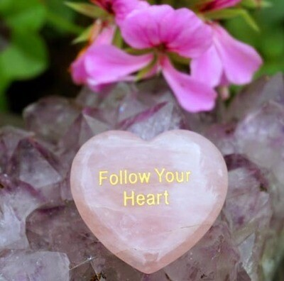 Follow Your Heart Palm Stone