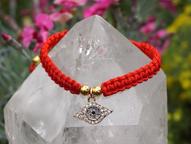 Red String with Eye Bracelet