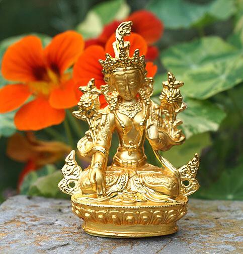 Golden Tara Figurine
