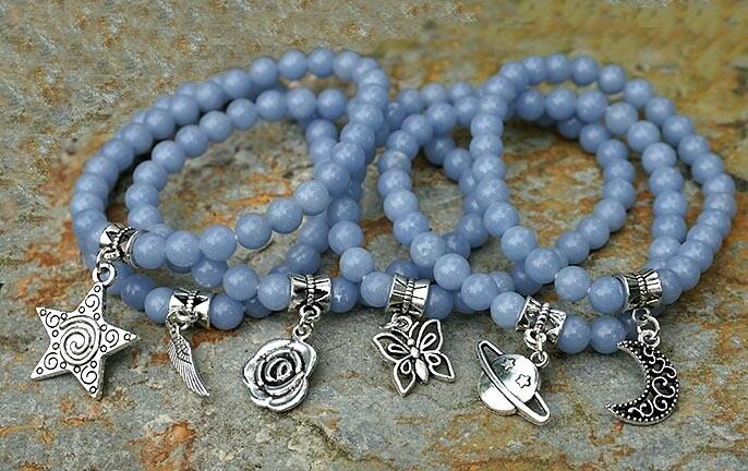 Angelite Charm Bracelets