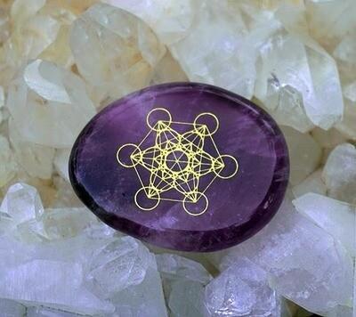Metatron's Cube Palm Stone
