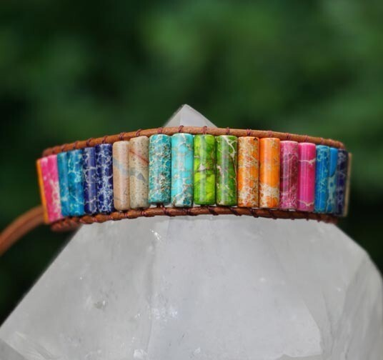 Impression Jasper Rainbow Bracelet