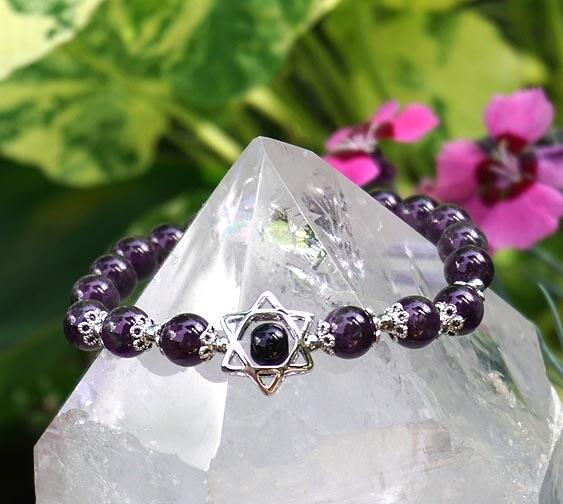 Merkaba Bracelets in Amethyst