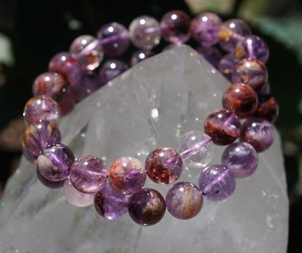 Amethyst Cacoxenite Ascension Stone Bracelet