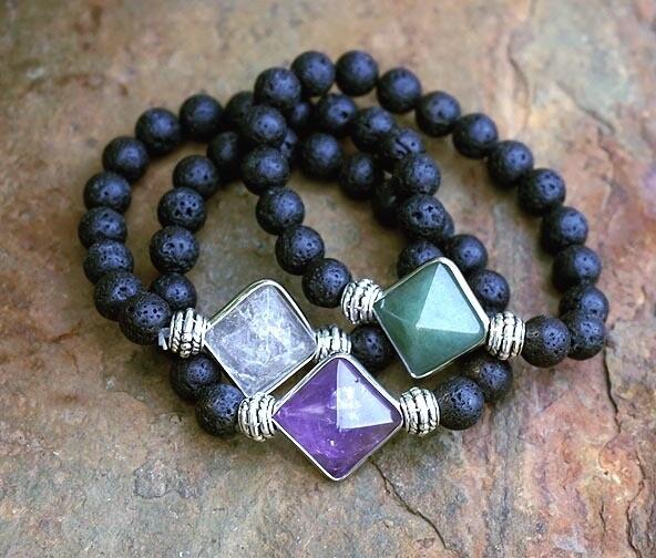 Lava Pyramid Bracelets