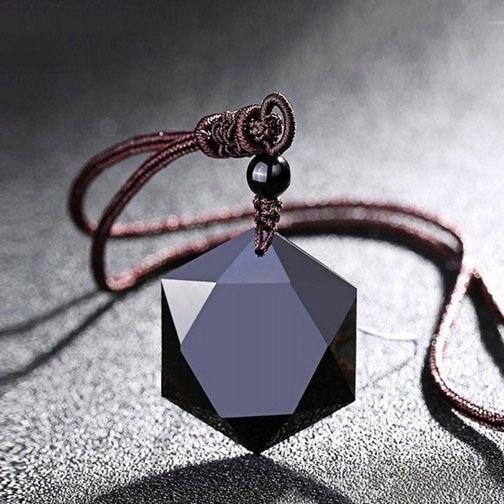 Obsidian Shield Pendant